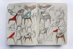Clamp Chair sketch - Andreas Kowalewski