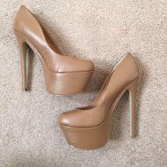 d8c63828a856 Zigi Girl nude platform high heels size 7 NEW new unworn pair of zigi girl  heels