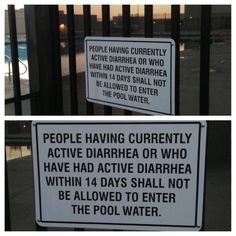 This pool posting:   22 Signs That Demand An Explanation