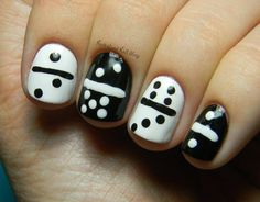 domino nail art... lol