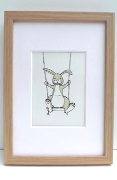 nursery art - rabbit https://www.etsy.com/uk/listing/171537724/bunny-rabbit-on-swing-nursery-art-print?ref=shop_home_active