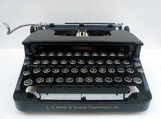glass key typewriter | 1938 Antique Corona Glass Key Typewriter | Flickr - Photo Sharing!