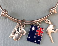 Lucky Charms Silver Bangle Inspired by Charm Bracelet  4