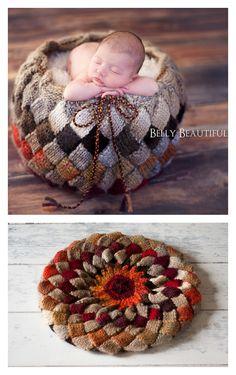 Entrelac Basket Knitting Pattern
