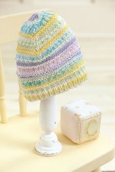 Ravelry: Knook Ridges Baby Hat pattern by Dorothy E. Uhlir Newborn to 3 months, months, months Loom Knitting, Baby Knitting, Knitting Patterns, Crochet Patterns, Crochet Hooks, Knit Crochet, Tunisian Crochet, Baby Hat Patterns, Crochet Baby Booties