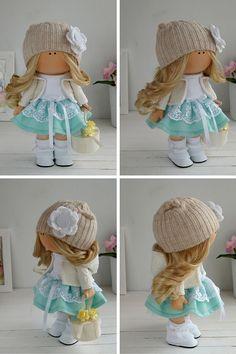 Fabric doll handmade Tilda doll Interior doll by AnnKirillartPlace