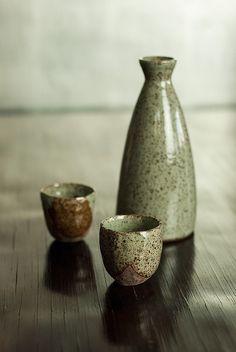 valscrapbook: Sake-Serving-Set-Celadon-Grey-Nom-Living by nomliving.com on Flickr.
