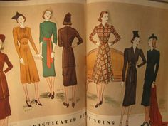 McCall 9550, 9547 and 9540 on the left page, 9533, 9544 and 9543 on the right page in McCall's magazine, January 1938