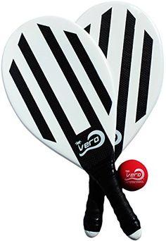 Vero Frescobol 2 Carbon Fiber Beach Paddleball Paddles, O…