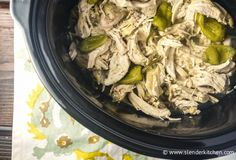 Sunday Slow Cooker:  Pepperoncini Chicken