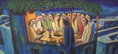 2. The Last Supper The Sarum Cycle - Gallery - Mynheer-art: the fine art site of painter and sculptor Nicholas Mynheer