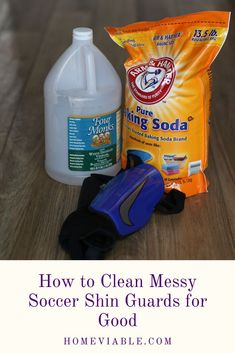 Learn how to wash your soccer shin guards to keep them clean and free of odor. If you need to remove the stinky sweat smell, this is the cleaning guide for you. #homeviable #soccer #clean #shinguards #bakingsoda #vinegar House Cleaning Tips, Deep Cleaning, Cleaning Hacks, Dish Detergent, Laundry Detergent, All Natural Cleaning Products, Best Cleaner, Soda Brands, Natural Detergent