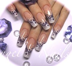#Square #airbrush #nailart Repinned by http://www.naildesignshop.nl