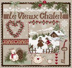 Madame la Fee, Le Vieux Chalet, Старое шале, схема для вышивания крестом…