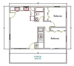 floor plan for 20 x 35 702 sq ft floor plan pinterest rh pinterest com
