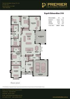 Our Homes - The Esprit - Premier Builders Group House Plans, New Homes, Floor Plans, Group, How To Plan, House Floor Plans, Floor Plan Drawing, Home Plans