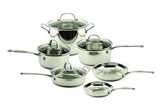 BergHOFF Earthchef Premium Copper-Clad 10-Piece Cookware Set with Glass Lids