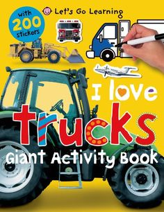 Lets Go Learning I Love Trucks Giant Activity Book Wit