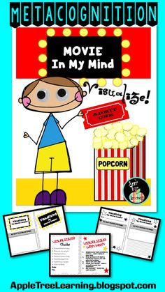 Visualize! Movie in My Mind is a metacognition kit that includes lessons and activities to improve comprehension. #visualize #comprehension
