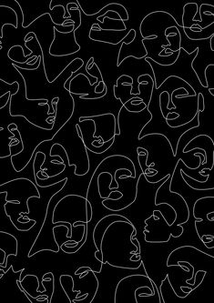 Face Lace Mini Art Print by Explicit Design - Without Stand - 3 Aesthetic Iphone Wallpaper, Aesthetic Wallpapers, Office Wallpaper, Face Lace, Lace Art, Foto Art, Line Drawing, Female Drawing, Wall Collage
