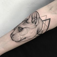 Foreboding Blackwork Tattoos Created Using Dots And Lines - DesignTAXI.com