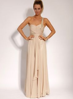 My bridesmaids would look stunning in this absolutey love - nude & a bit of sparkle sooooo me i wanna be my own bridemaid ha - ab