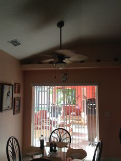 Who Doesnt Love A Little 42 Inch Ceiling Fan Over Your Cafe Table
