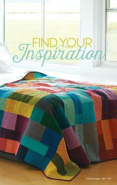 Robert Kaufman Lookbooks - Kona Cotton Lookbook: 30 Quilts for 30 Years Colorful Quilts, Robert Kaufman, 30 Years, Baby Quilts, Big Block Quilts, Textiles, Amish Quilts, Rainbow Quilt, Patchwork Ideas