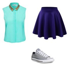"""""""Casual&chic"""" by chiconeillgirl ❤ liked on Polyvore featuring Vero Moda and Converse"""