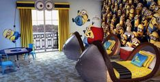 Despicable Me themed kids suites debut October 1 at Portofino Bay Hotel - Minions Minion Room Decor, Minion Bedroom, Despicable Me Bedroom, Dream Rooms, Dream Bedroom, Kids Bedroom, Kids Rooms, Bedroom Ideas, Design Bedroom