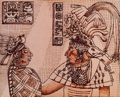 Mayan Queen and King of Yaxchilan by tlacuilopilo