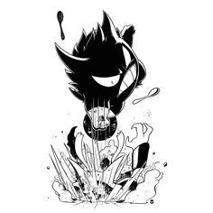 Gengar shadow fist in Alakazam Gengar Pokemon, Pokemon Noir, Pokemon Fan Art, Ghost Pokemon, Pokemon Images, Pokemon Pictures, Lagann Gurren, Character Art, Fan Art
