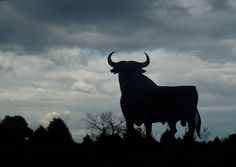 Photography Print Photo Picture of Bull silhouette sky Spain Animal Beast. $15.00, via Etsy.