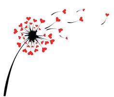 Blown Away Dandelion Tattoo Ideas For Romantic Women Kids Crafts, Heart Art, Easy Drawings, Doodle Art, Painted Rocks, Art Sketches, Heart Shapes, Hand Lettering, Tatting