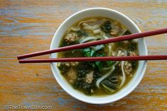 Spicy Chicken and Rice Noodle Soup-3 by thetravelbite, via Flickr #recipe #travel