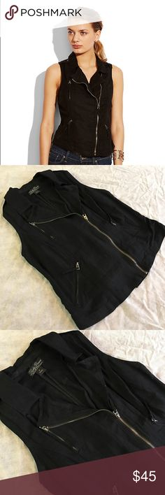HPLucky brand moto vest Zip closures on front. Cinch piece on back. Size medium. Gently used. No holds, trades. Lucky Brand Jackets & Coats Vests