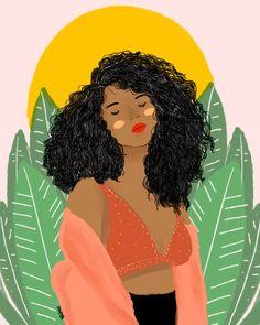 eu cresço entre a luz e os espinhos. . . . . . #cachos #cacheada #artedigital #digitalart #feminismo #minastagsecreta #afro #ilustração…
