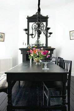 Note to self- paint dining table black... my white one lends itself to too much filth with the children