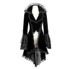 New Punk Rave Black gothic jacket Rock cosplay Kera Steampunk y women Coat y2 Alternative Measures