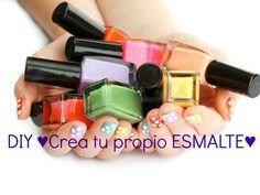 DIY ♥Crea tu propio ESMALTE♥ - YouTube