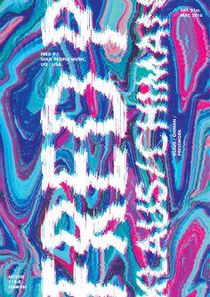 glitch graphic poster, lee nuri