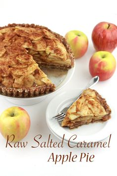 RAW SALTED CARAMEL APPLE PIE July 13, 2015 BY CELESTE   Madefrompinterest