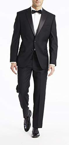 Calvin Klein Men's Slim Fit Stretch Suit Separates-Custom Jacket & Pant Size Selection