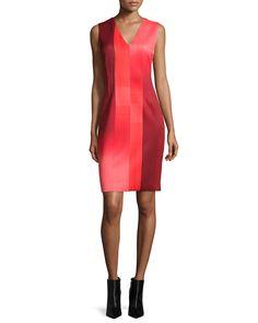 Gwenyth Sleeveless Graphic Sheath Dress, Rio/Black - Elie Tahari