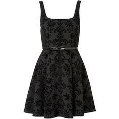 Forever New Harper Flocked Scuba Dress