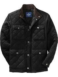 Old Navy Quilted Cord-Trim Barn Jackets (ala Barbour) | My ... : mens quilted barn jacket - Adamdwight.com