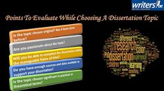 Writers.ae: Points To Evaluate While Choosing a Dissertation T...
