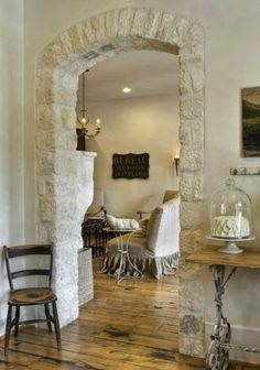 Stone Arch - between dining and living room
