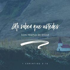 ¿No se dan cuenta de que todos ustedes juntos son el templo de Dios y que el Espíritu de Dios vive en ustedes? 1 Corintios 3:16