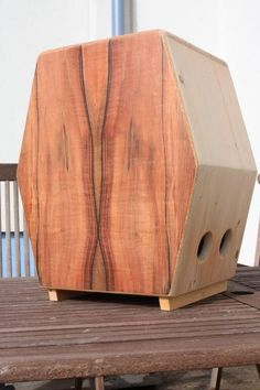 Austrian Cajonmanufaktur Wolf makes some stunning cajons but doesn't quite get the coffin shape right on this one.